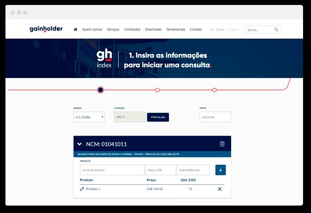 Simulador de importação Online