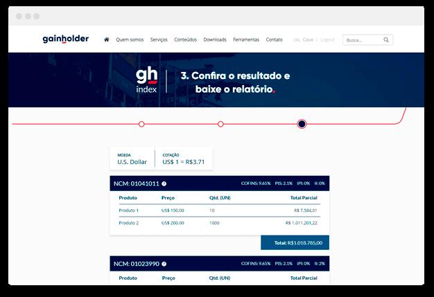 Calculadora de importação Online