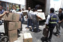 Alfândega da Receita Federal apreende seis toneladas de mercadorias